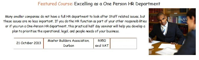 One-person HR department