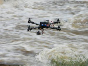 Drone on the river