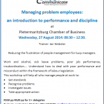Managing problem employees – a workshop