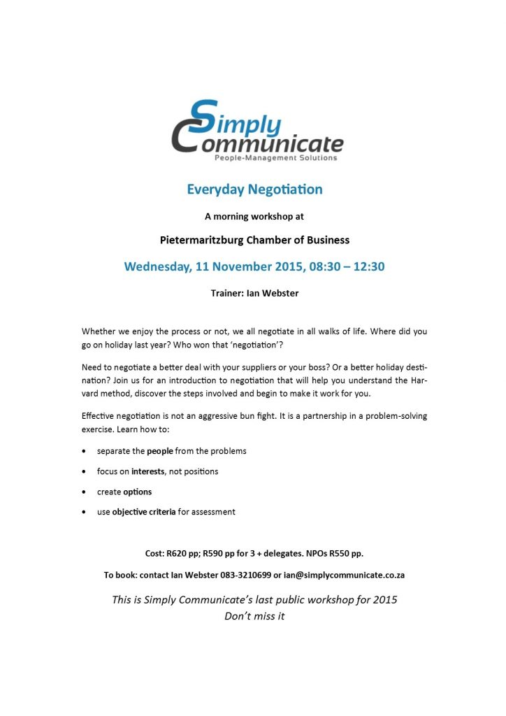 Negotiation Flyer Nov 2015