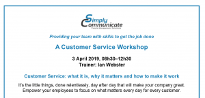 Customer Service Workshop