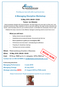 A Simply Communicate workshop on Managing Discipline