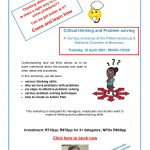 A Critical Thinking and Problem Solving workshop